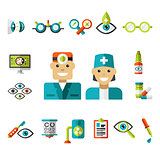Optical icons, Ophthalmology Icons Set