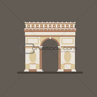 Arch of Triumph Vector Illustration