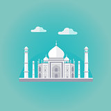 Taj Mahal Vector Illustration