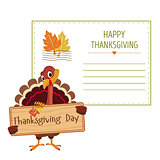 Invitation for thanksgiving, vector illustration of colorful banner
