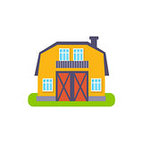 Yellow Barn Suburban House Exterior Design