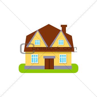Four Window Suburban House Exterior Design