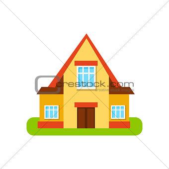 Three Windows Suburban House Exterior Design