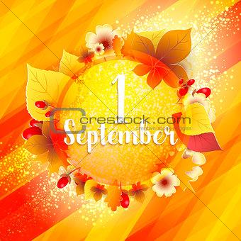 First September Autumn Background.