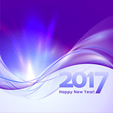 Happy New Year background with blue wave