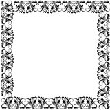 Floral ornate black frame