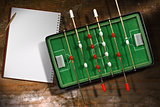 Mini Table Football Game with a Notebook