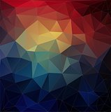 Abstract colorful triangle geometric background.