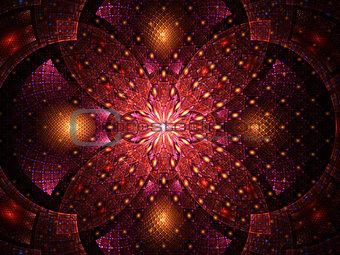 Abstract fractal fantasy magenta pattern .
