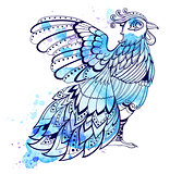 Decorative blue bird