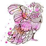 Decorative pink bird