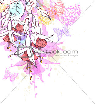Abstract floral tropical background