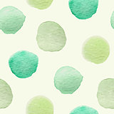 Seamless pattern with green blots