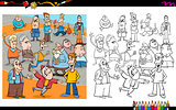 people characters coloring book