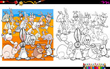 rabbit characters coloring book