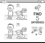 differences activity coloring page
