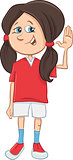 teen girl cartoon character