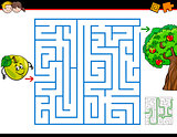 maze activity task cartoon