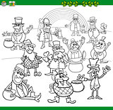 saint patrick day coloring book