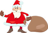 santa with sack illustration