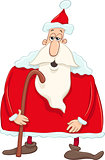 santa with cane cartoon