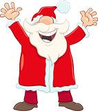 happy santa cartoon