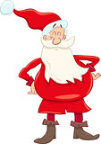 funny santa cartoon