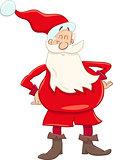 funny santa cartoon