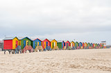 Multi-colored beach huts at Muizenberg