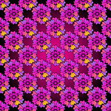 Floral purple seamless spring patter