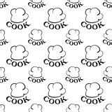seamless pattern with toques. vector