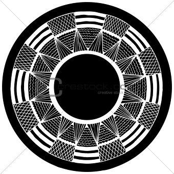 abstract circle . vector. zentangl. graphic arts