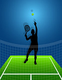sport background tennis. man. vector