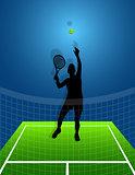 sport background tennis. man. vector