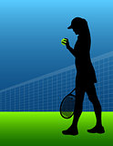 sport background tennis. woman. vector