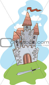 Castle and sword