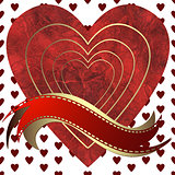 Image of heart on a hearts background