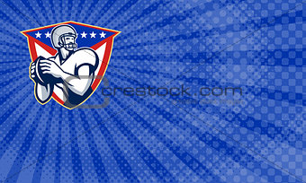 American Football Quarterback Clinic Business Card