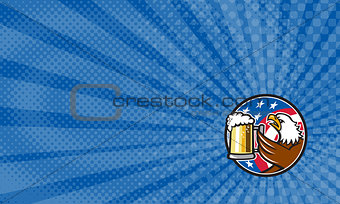 American Eagle Beer Business card