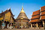 Wat Phra That Lampang Luang with blue sky, Lampang, Thailand