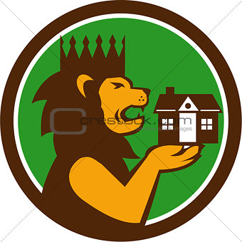 King Lion Holding House Circle Retro