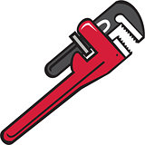 Pipe Wrench Retro