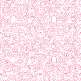 Line Wedding White Seamless Pattern