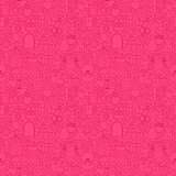 Pink Line Wedding Seamless Pattern