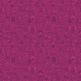 Purple Line Wedding Seamless Pattern