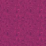 Purple Line Wedding Seamless Pattern