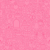 Wedding Pink Line Tile Pattern