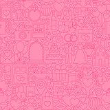 Wedding Pink Line Tile Pattern