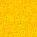 Wedding Yellow Line Tile Pattern