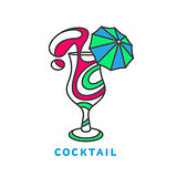 colorful abstract cocktail logo